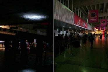 ¡A OSCURAS! Reportaron apagón en el Aeropuerto de Maiquetía la mañana de este #21Feb (+Fotos)