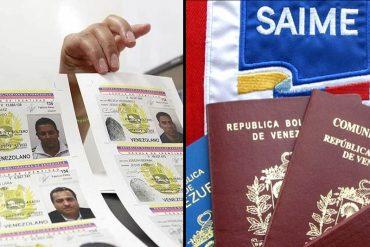 ¡INSÓLITO! Saime no permitirá sacar cédula a quien esté tramitando pasaporte (y que tienen meses esperando)