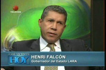 """¡LE DIJERON DE TODO! Henri Falcón le concedió una entrevista a José Vicente Rangel y lo estallaron por Twitter (lo llaman """"falsón"""")"""