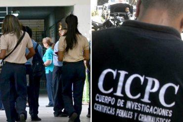 ¡ENTÉRESE! Cicpc detuvo a liceístas que mataron a golpes a una compañera de clase embarazada