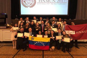 ¡GRAN ORGULLO NACIONAL! UCAB y USB ganan premio en Harvard por sus modelos de Naciones Unidas