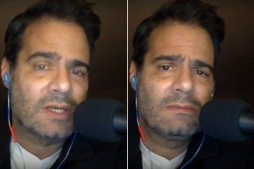 """¡CONMOVEDOR! Al borde de las lágrimas Luis Chataing se despide de la radio: """"Hasta pronto"""" (+Video)"""