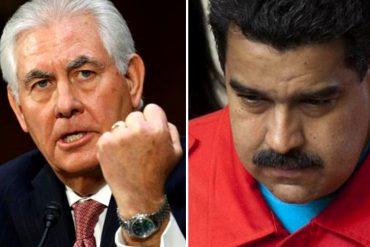 ¡SÉPALO! Tillerson pedirá más presión sobre Maduro en su primera gira latinoamericana