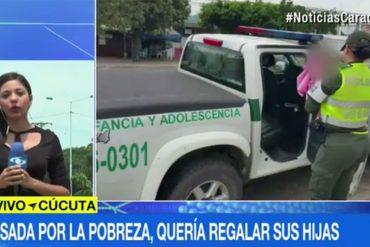 ¡TRISTE Y LAMENTABLE! Indígena venezolana regala a su hija en Cúcuta porque no tenía cómo mantenerla