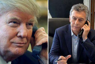 """¡AJÁ, NICOLÁS! Trump y Macri habrían acordado """"estrategias regionales"""" sobre Venezuela"""