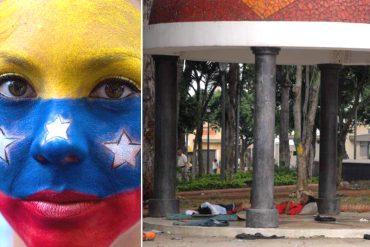 ¡DOLOR! Profesionales venezolanos duermen en las calles de Bucaramanga: Aquí sus historias
