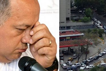 """¡NO PUEDEN OCULTARLO! Cabello reconoció problemas con el suministro de gasolina: """"Ya Pdvsa está resolviendo"""""""