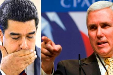 """¡ALERTA! Vicepresidente Mike Pence advierte """"más sanciones"""" contra el régimen de Nicolás Maduro (+Video)"""