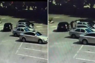 ¡SIN TEMOR A DIOS! Así roban los carros en el estacionamiento de una iglesia en Valencia (+Video)