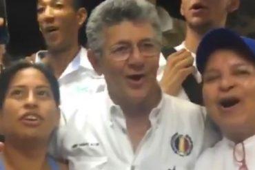 ¡IMPELABLE! Así celebró Ramos Allup al enterarse del balance de la validación de AD (+Video)