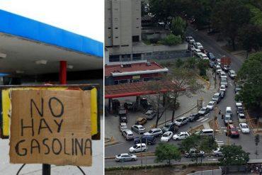 ¡ES OFICIAL! Caracas se quedó sin gasolina: Reportan descomunales colas en la capital y otras ciudades