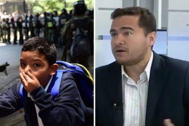 ¡MISERABLE! Ricardo Sánchez justificó lanzamiento de lacrimógenas cerca de Colegio San Pedro