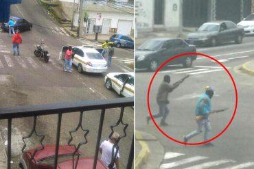 ¡ÚLTIMA HORA! Colectivos disparan contra opositores en protesta en Táchira (portan armas largas)