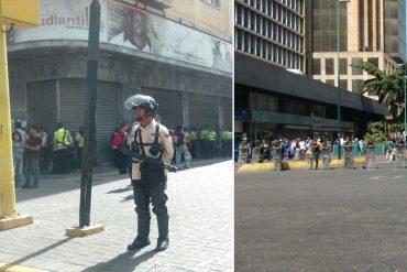 ¡SIN DERECHO A PROTESTAR! GNB bloquea accesos a Plaza Venezuela por convocatoria de marcha opositora