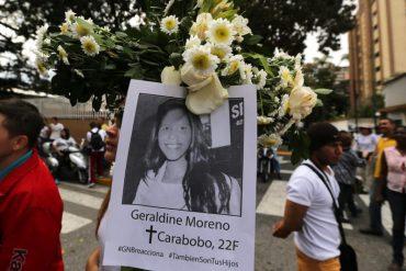 ¡PA' QUE SE VEAN EN ESE ESPEJO! Militares que mataron a Geraldine Moreno durarán 30 y 16 años en la cárcel