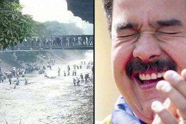 ¡MISERABLES! Los mensajes con los que el chavismo se burló de la gente que se refugió en el Guaire (incluido Maduro)