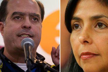 ¡LO QUIEREN PRESO! Delcy Rodríguez: Gobierno actuará frente a usurpación de Borges en la OEA