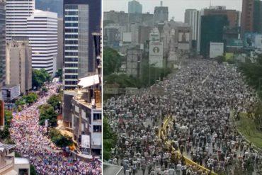 ¡MULTITUDINARIA ASISTENCIA! Pese a la brutal represión, el pueblo de Venezuela salió a la calle