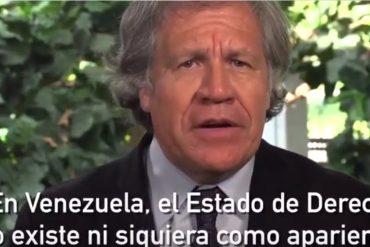 ¡DURO! Almagro critica procesamiento militar de civiles y menciona a los culpables de la represión (De Vladimir pa'a abajo) (+Video)