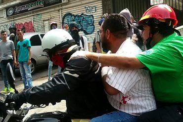 ¡ATENCIÓN! Manifestante resultó herido de bala en un brazo durante represión en Bello Monte (+Video)