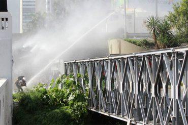 ¡BRUTALIDAD! GNB ataca con lacrimógenas desde arriba a manifestantes en El Rosal (Video + Fotos)