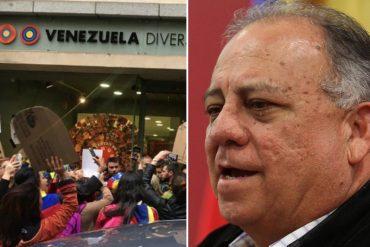 """¡CHILLANDO! Mario Isea denunció ataque a Embajada de Venezuela en España: """"Nos secuestró una turba"""""""