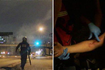 ¡ATENCIÓN! Al menos cinco heridos deja represión esta noche en la Urbanización La Sucre de Barquisimeto