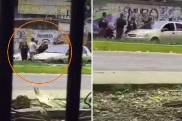 ¡DELINCUENTES! GNB agredió a joven en El Trigal y se llevaron su carro #10M