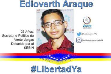 ¡ULTIMA HORA! Sebin detuvo a Edioverth Araque, secretario de Vente Venezuela en Vargas (tiene limitaciones motrices)