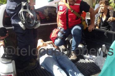 ¡QUÉ DESESPERO! Joven se lanzó del distribuidor Altamira para evitar ser detenido por la GNB