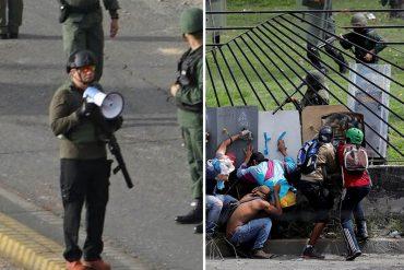 ¡BIEN COBARDES! GNB y civiles armados dispararon contra la manifestación desde La Carlota (+Fotos)