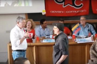 ¡LE DIJO SUS VERDADES! Profesor venezolano encaró a Isaías Rodríguez en Italia (+Video)