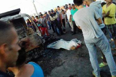 ¡ANARQUÍA FATAL! Hombre murió carbonizado tras intento de saqueo en Maracaibo: hay otros 2 heridos