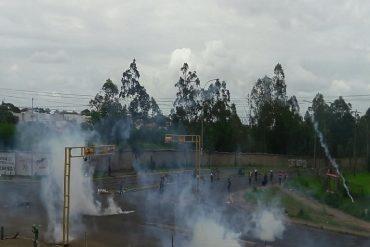 ¡ATENCIÓN! Reportan brutal represión contra estudiantes de la Ucab Guayana este #1Jun: hay heridos y detenidos