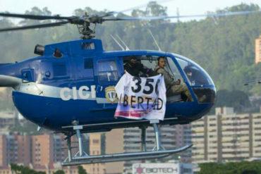 ¡URGENTE! Helicóptero del Cicpc sobrevuela Caracas y el TSJ con pancarta de Libertad y 350 (+Videos)