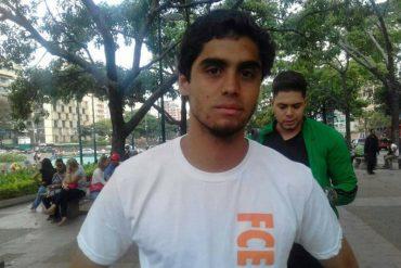 ¡ATENCIÓN! Detuvieron a Daniel González, estudiante de la Unimet: lo trasladaron al Helicoide