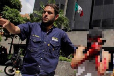 ¡QUÉ SALVAJISMO! Joven resultó herido en trancón en El Rosal tras recibir lacrimógena en el rostro