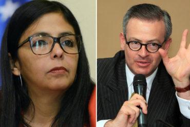 """¡TOMA! Canciller de Costa Rica le dio hasta con el tobo a Delcy Rodríguez por llamarlo """"analfabeto"""""""