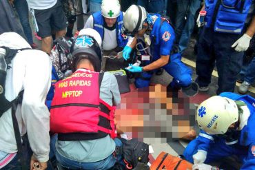 ¡EN VIDEO! Declaraciones del paramédico que dio los primeros auxilios a Neomar Lander en Chacao