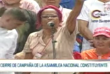 ¡EL COLMO! Candidata a la Constituyente está tan perdida que no sabe cuando son elecciones (+Video)
