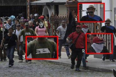 ¡ROSTROS DE LA BARBARIE! Identificados los colectivos que asediaron la Asamblea Nacional (+Fotos)