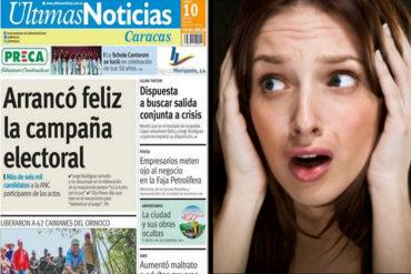 ¡VERGONZOSO! La portada de Últimas Noticias que desató la polémica en las redes este #10Jul