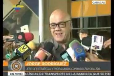 ¡CARA 'E TABLA! Jorge Rodríguez echa chispas: El señalamiento de Smartmatic es absurdo (+Videos)