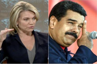 ¡LE PONE LA LUPA! EEUU pidió moderación e investigación independiente sobre el supuesto atentado contra Maduro