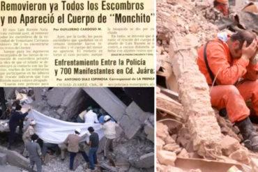 """¿COINCIDENCIA? En el sismo de México de 1985 también hubo un niño """"fantasma"""" como Frida Sofía: Monchito"""