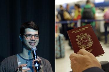 ¡NO TE LO PIERDAS! Comediante enseña cómo triunfar con cita del pasaporte exprés (+Video)