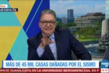 ¡TE LO MOSTRAMOS! La profesionalidad de un periodista que transmitía en vivo en pleno terremoto en México (Video)