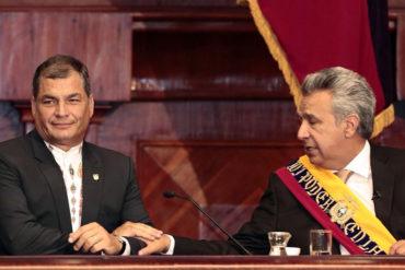 """¡LA VENGANZA DE CORREA! Partido oficialista ecuatoriano cesa a Lenín Moreno por """"traidor"""" (+Video)"""