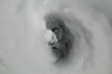 """¡IMPRESIONANTE! Captan un """"espeluznante rostro"""" dentro del huracán Irma (Foto y Video)"""