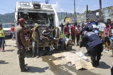¡TRÁGICO! Niño que buscaba comida fue arrollado por camión de basura en Carabobo (+Fotos)